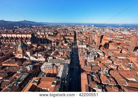 Panoramic View Of Strada Maggiore, Bologna