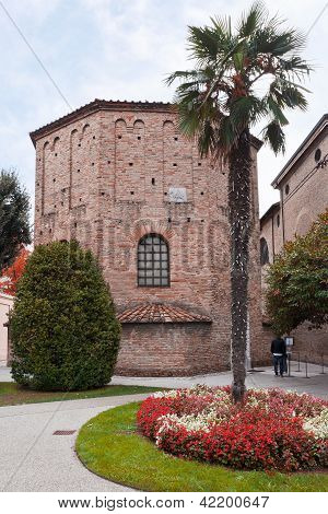 Baptistry Of Neonian In Ravenna, Italy