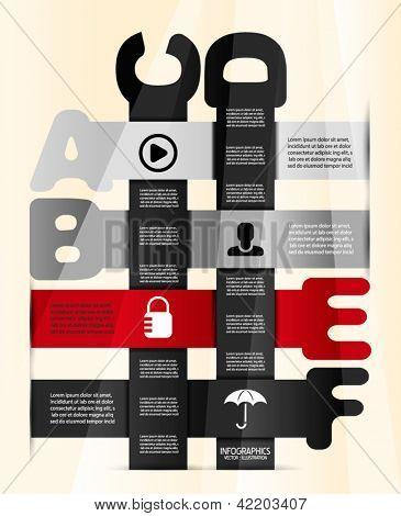 Modelo de projeto de apresentação de progresso infográfico. Infográfico vintage poster