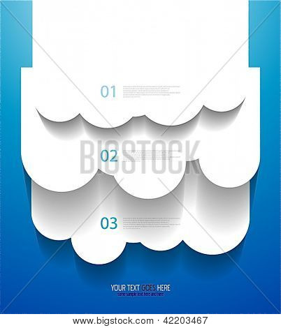 Vector EPS10 design: applique vector clouds