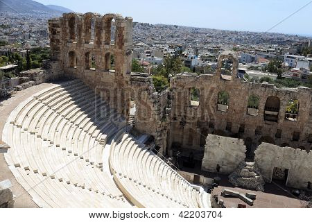 Ancient Odeon Of Herodes Atticus