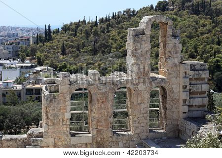 Element Of Wall Of Odeon Of Herodes Atticus