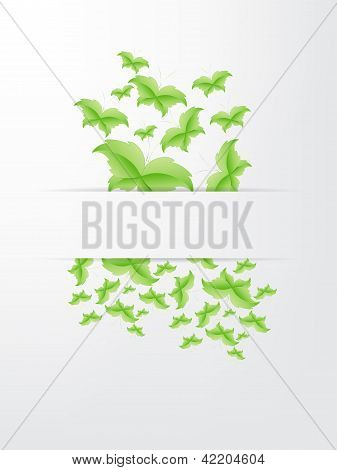 Green Butterfly Leaf Concept