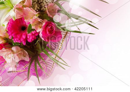 Art Design With Spring Flowers
