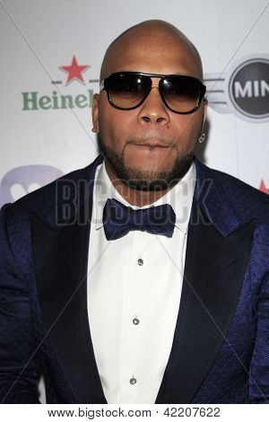 LOS ANGELES - FEB 10:  Flo Rida arrives at the Warner Music Group post Grammy party at the Chateau Marmont  on February 10, 2013 in Los Angeles, CA..
