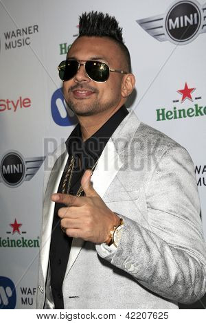 LOS ANGELES - FEB 10:  Sean Paul arrives at the Warner Music Group post Grammy party at the Chateau Marmont  on February 10, 2013 in Los Angeles, CA..