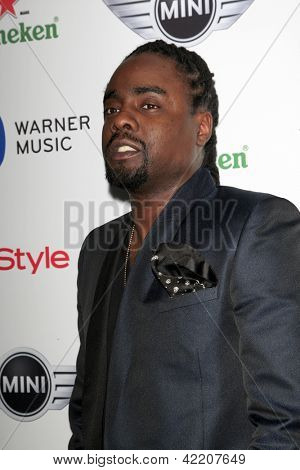 LOS ANGELES - FEB 10:  Wale arrives at the Warner Music Group post Grammy party at the Chateau Marmont  on February 10, 2013 in Los Angeles, CA..