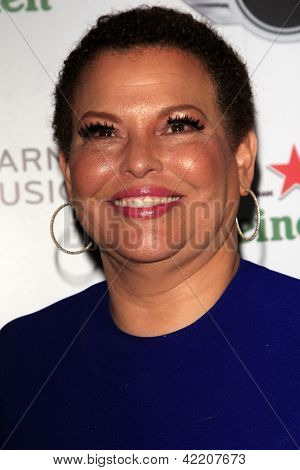 LOS ANGELES - FEB 10:  Debra Lee arrives at the Warner Music Group post Grammy party at the Chateau Marmont  on February 10, 2013 in Los Angeles, CA..
