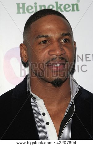 LOS ANGELES - FEB 10:  Stevie J arrives at the Warner Music Group post Grammy party at the Chateau Marmont  on February 10, 2013 in Los Angeles, CA..