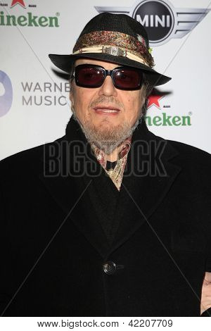 LOS ANGELES - FEB 10:  Dr. John arrives at the Warner Music Group post Grammy party at the Chateau Marmont  on February 10, 2013 in Los Angeles, CA..