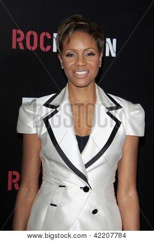 LOS ANGELES - FEB 9:  MC Lyte arrives at the ROC NATION Annual Pre-Grammy Brunch at the Soho House on February 9, 2013 in West Hollywood, CA