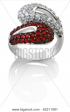 Fashion Jewellery Ring Isolated On A White