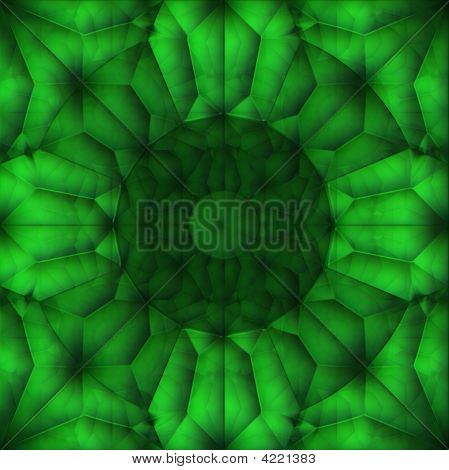Abstract Green Flower