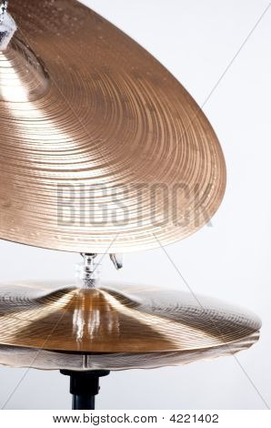 Cymbal Set Isolated On White