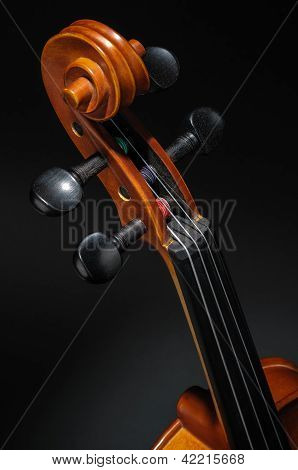 Violin Neck, Pegbox And Scroll Detail