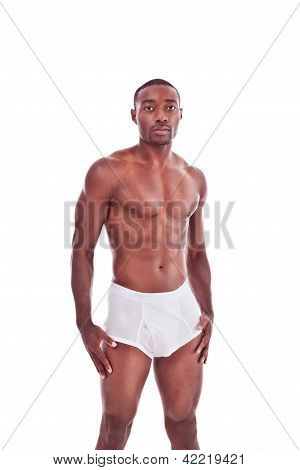 Athletic Muscular Ethnic Black Afro-american Man