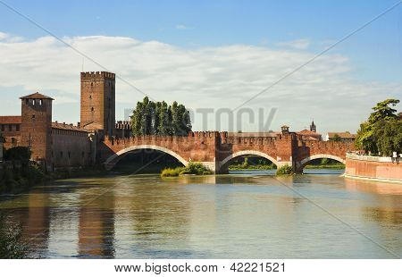 The Castelvecchio Bridge In Verona