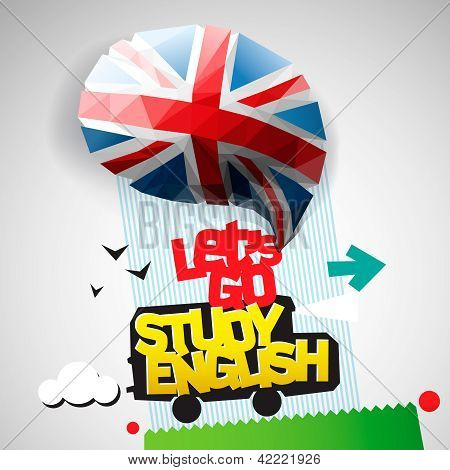 Let's go study English background