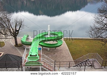 Green Waterslide