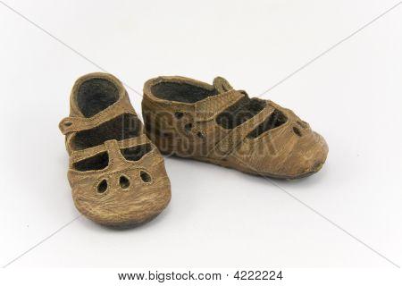Worn Girls Shoes
