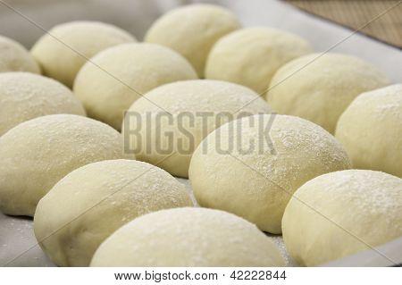 Buns bread dough