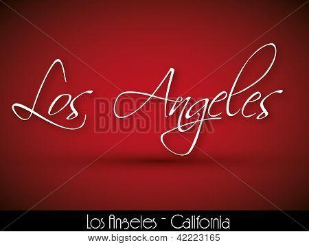 Los Angeles - handwritten background