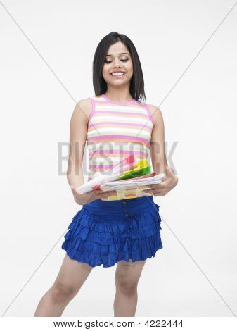 Pretty Teenager  With Files