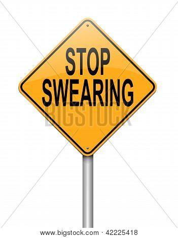No Swearing Sign.