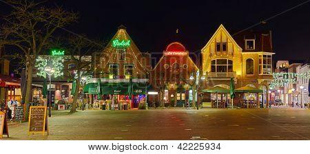 Night Scene Of Bars
