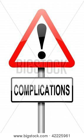 Komplikation-Konzept.