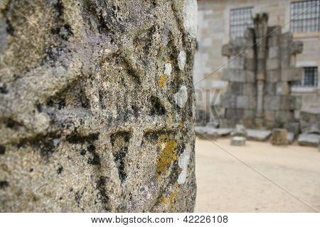 Star carved in stone