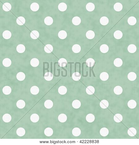 Green And White Polka Dot Fabric Background