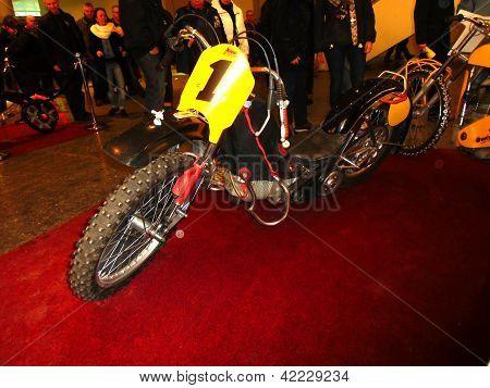 Hamburg, Germany - January 26: The Sport Motorbike  On January 26, 2013