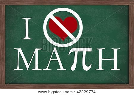 I Hate Math Chalkboard