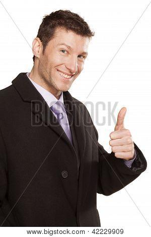 sucefull smiling man