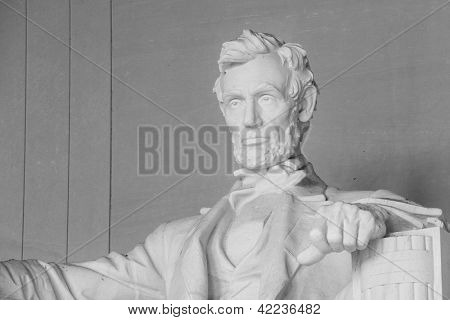 Abraham Lincoln Statue in Lincoln Memorial - Washington DC, United States