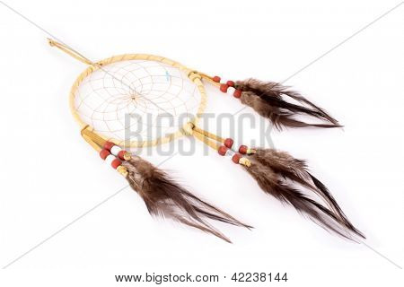 Dream Catcher, the legend of the American Indians. The web of it would filter all dreams and allow only the good dreams to flow through the woven net and openings in the circle. T
