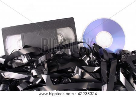 Photo of Video tape cassete to DVD