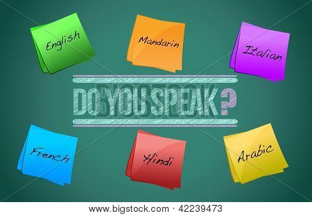 Do You Speak Board Illustration Design