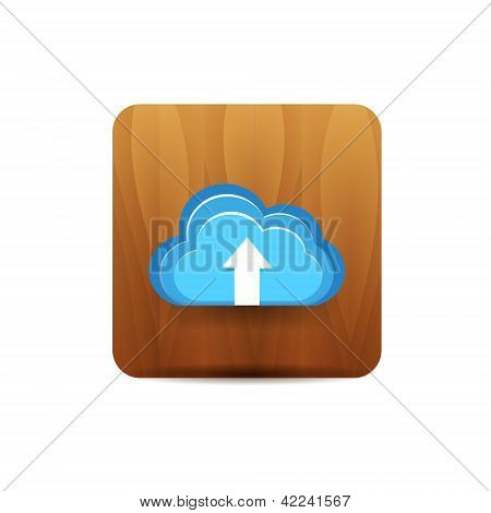 Virtual cloud icon