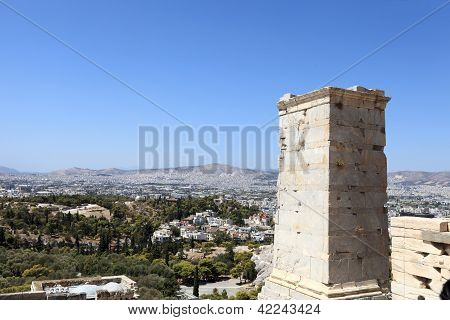 Landscape Of Agrippa Tower Of The Acropolis Propylaea