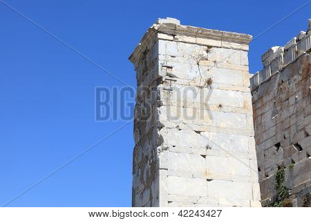 Part Of Agrippa Tower Of The Acropolis Propylaea