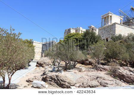 Way To Propylaea Of The Athenian Acropolis