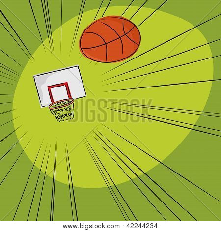 Basketball Into The Net