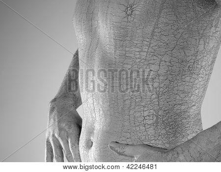 Bodypainted Male Torso Detail
