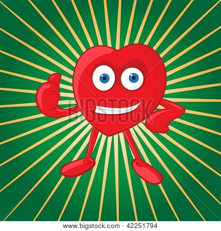 Vector Heart Mascot