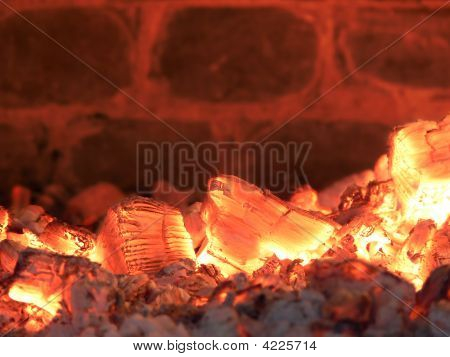 Burning Coals Background
