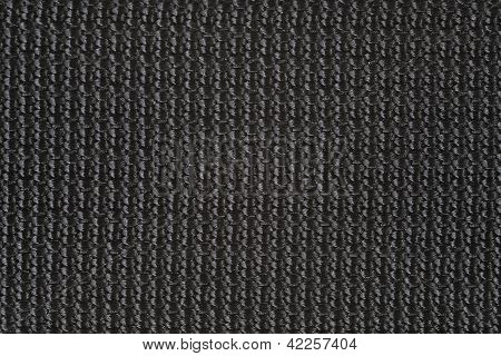 Macro Of Black Canvas For Backround Or Texture