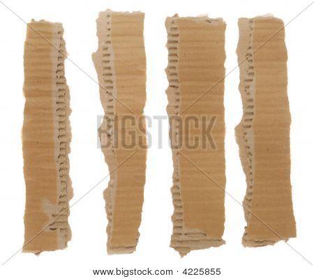 Torn Cardboard Strips