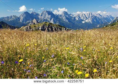 View from Karnische Alpen or Alpi Carniche - Dolomiti - Italy